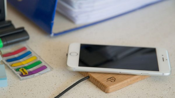 Wooden wireless phone charger